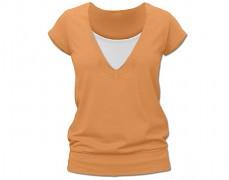 Kojící oranžové tričko kr.rukáv
