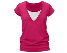 Kojící tm.růžové tričko kr.rukáv
