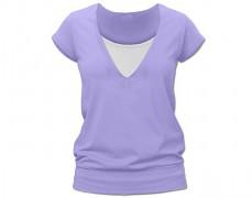 Kojící sv.fialové tričko kr.rukáv