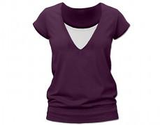 Kojící tm.fialové tričko kr.rukáv