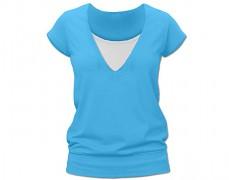 Kojící tyrkysové tričko kr.rukáv