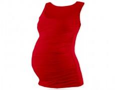 Těhotenský červený top