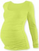 Těhotenské tričko pistáciové JOHANKA