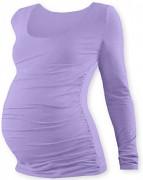 Těhotenské tričko sv.fialové JOHANKA