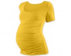 Těhotenské tričko žlutooranžové kr.rukáv