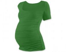 Těhotenské tričko zelené kr.rukáv