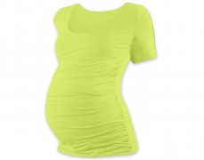 Těhotenské tričko pistáciové kr.rukáv