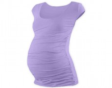 Těhotenské tričko sv.fialové mini rukáv
