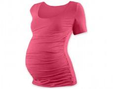Těhotenské tričko růžové kr.rukáv