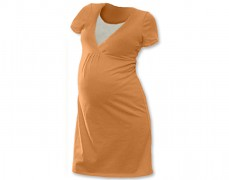 Kojící noční košilka oranžová