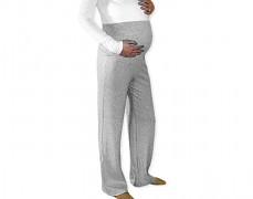 Těhotenské šedé tepláky