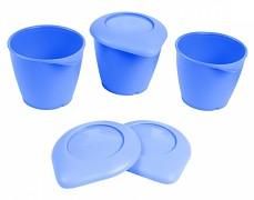 Zásobníky modré s víčkem BASIC 3ks