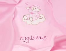 Dečka růžová Obláček s vlastní výšivkou