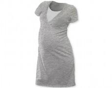 Kojící noční košilka šedá S/M, L/XL