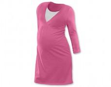 Kojící noční košilka růžová dl.rukáv