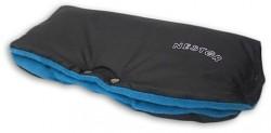 Rukávník ke kočárku fleece černá/modrá