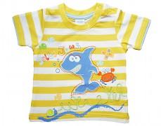 Tričko žluté pruhované vel.80