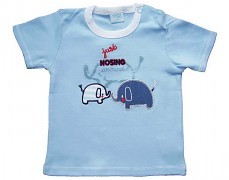 Tričko modré se slony