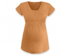 Těhotenská tunika Anička oranžová