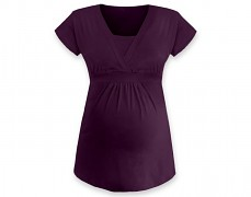 Těhotenská tunika Anička fialová