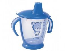 Nevylévací hrníček modrý Teddy Friend