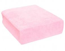 Dětské prostěradlo froté lux růžové