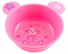 Plastová miska s oušky Růžový pejsek