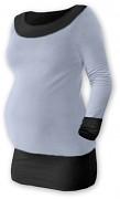 Těhotenská tunika Duo šedo-černá