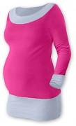 Těhotenská tunika Duo růžovo-šedá
