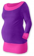 Těhotenská tunika Duo fialovo-růžová