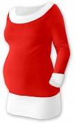 Těhotenská tunika Duo červeno-bílá