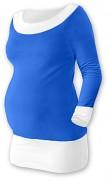 Těhotenská tunika Duo modro-bílá