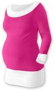 Těhotenská tunika Duo růžovo-bílá