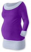 Těhotenská tunika Duo fialovo-šedá