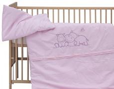 Dětské povlečení růžový hrošík