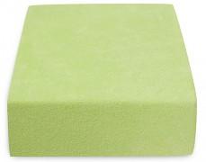 Dětské zelenkavé froté prostěradlo 120x60
