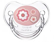 Dudlík růžový Newborn Baby silikonový