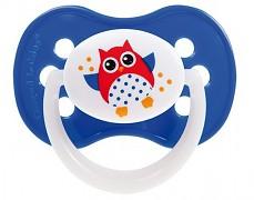 Dudlík modrý Sova silikonový